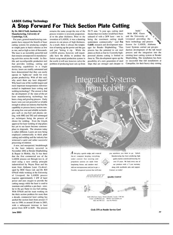 Maritime Reporter Magazine, page 77,  Jun 2003 British Columbia