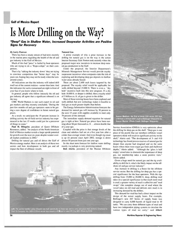 Maritime Reporter Magazine, page 24,  Jul 2003 Paul H. Hilegeist