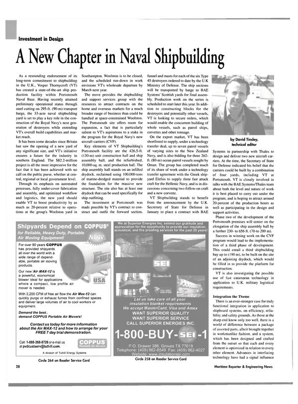 Maritime Reporter Magazine, page 26,  Jul 2003 Vermont