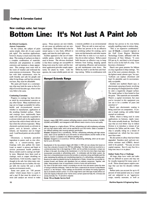 Maritime Reporter Magazine, page 18,  Aug 2003
