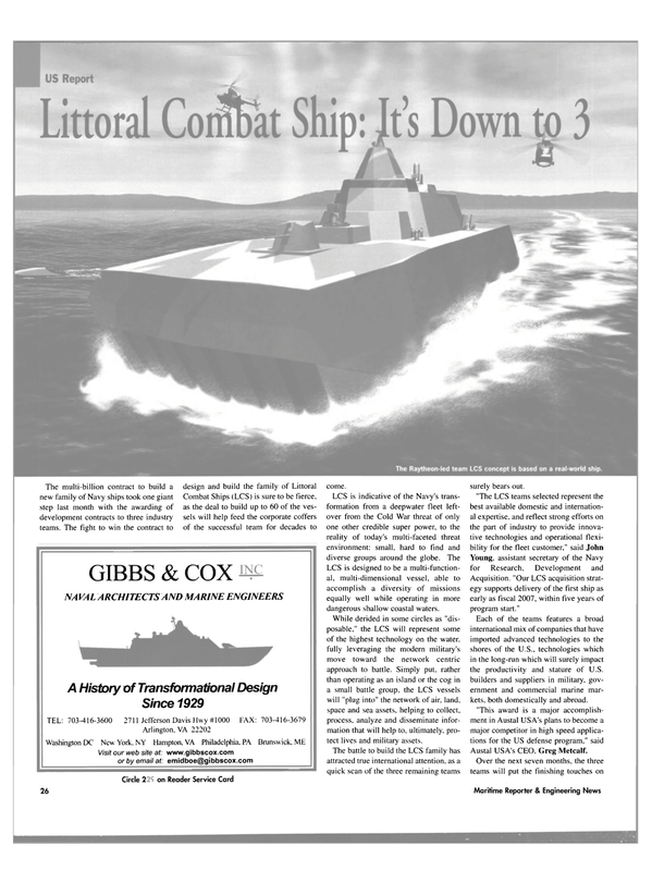Maritime Reporter Magazine, page 26,  Aug 2003 John Young
