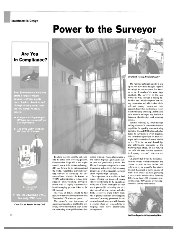 Maritime Reporter Magazine, page 32,  Aug 2003