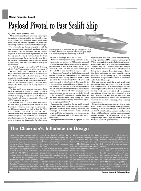Maritime Reporter Magazine, page 24,  Sep 2003 Mediterranean