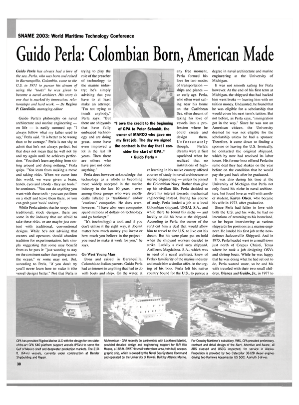 Maritime Reporter Magazine, page 38,  Sep 2003 Hawaii