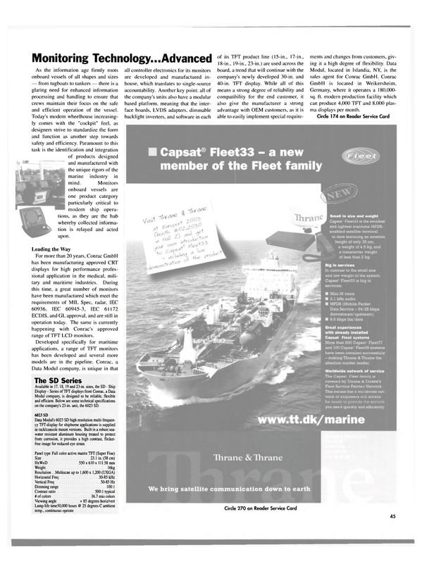 Maritime Reporter Magazine, page 45,  Sep 2003