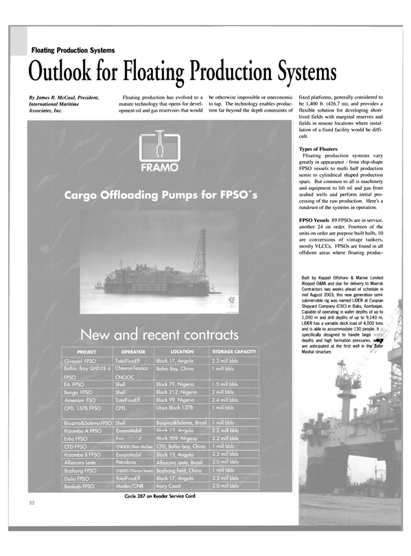 Maritime Reporter Magazine, page 52,  Sep 2003