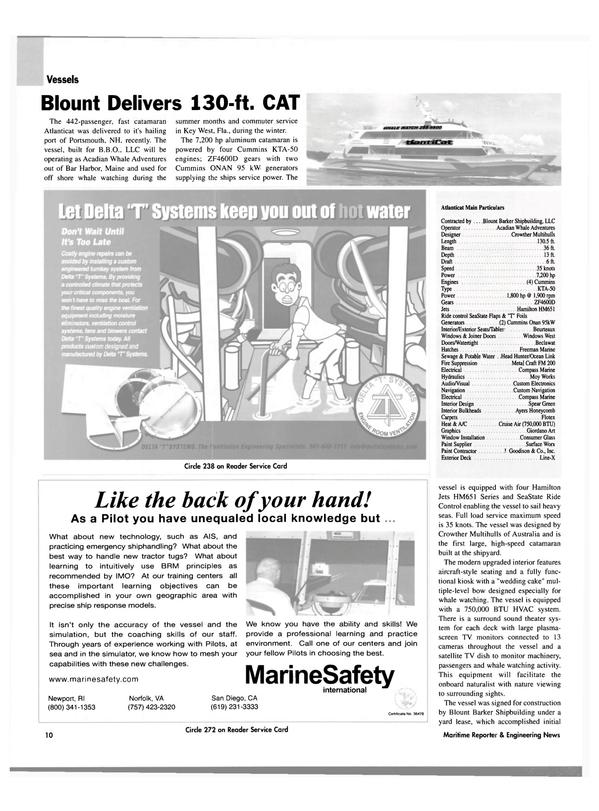 Maritime Reporter Magazine, page 10,  Oct 2003