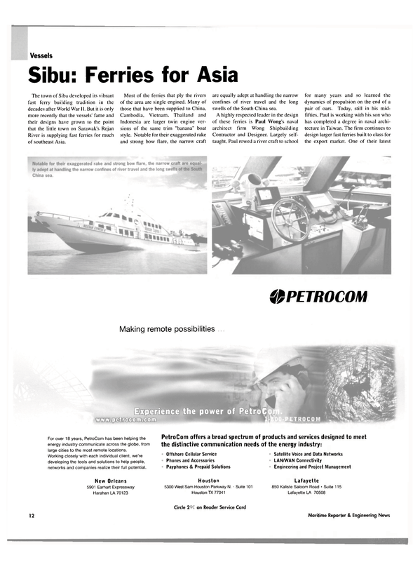 Maritime Reporter Magazine, page 12,  Oct 2003 South China