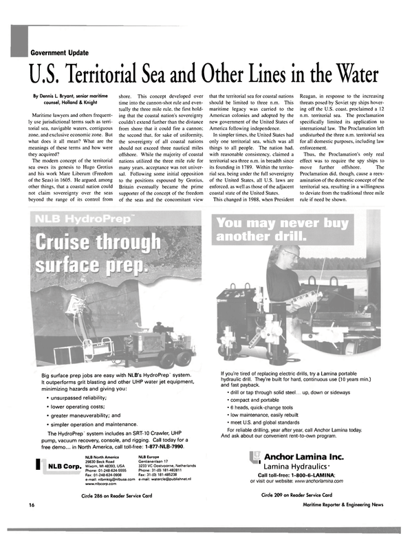 Maritime Reporter Magazine, page 16,  Oct 2003