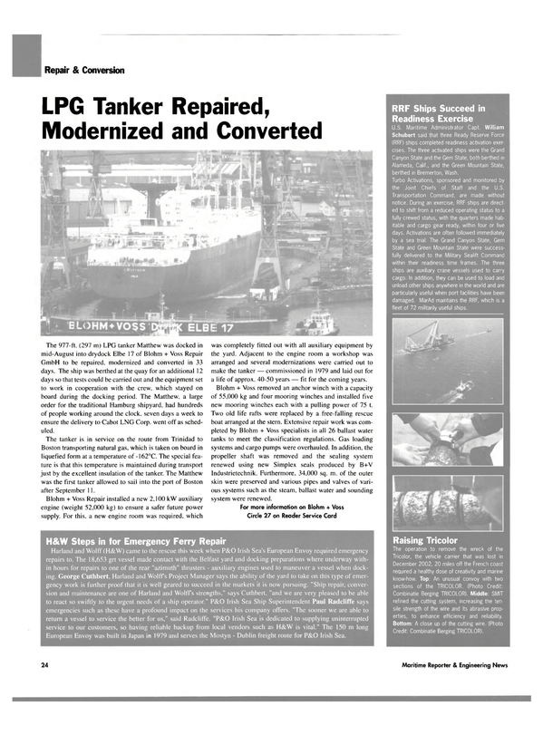 Maritime Reporter Magazine, page 26,  Oct 2003 Military Sealift Command