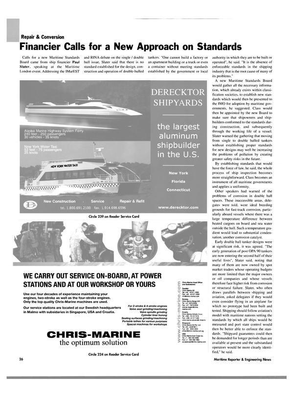 Maritime Reporter Magazine, page 28,  Oct 2003