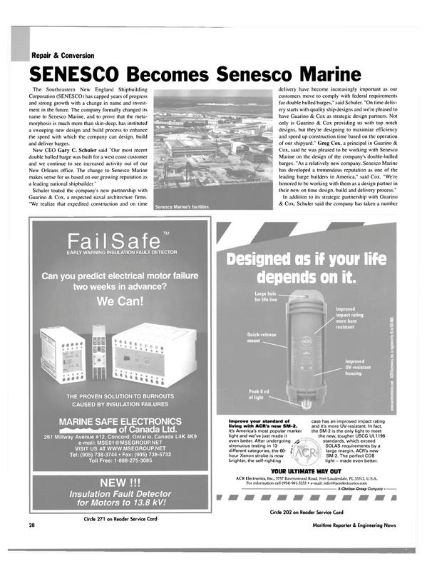 Maritime Reporter Magazine, page 30,  Oct 2003 Ontario