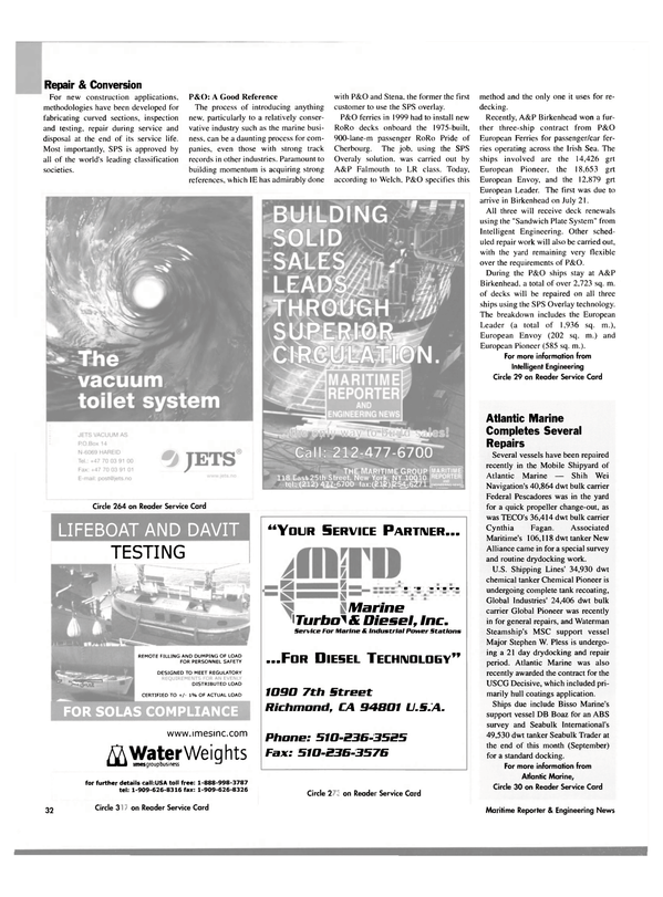 Maritime Reporter Magazine, page 34,  Oct 2003 Shih Wei