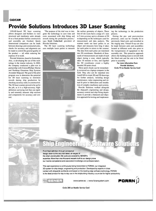 Maritime Reporter Magazine, page 58,  Oct 2003