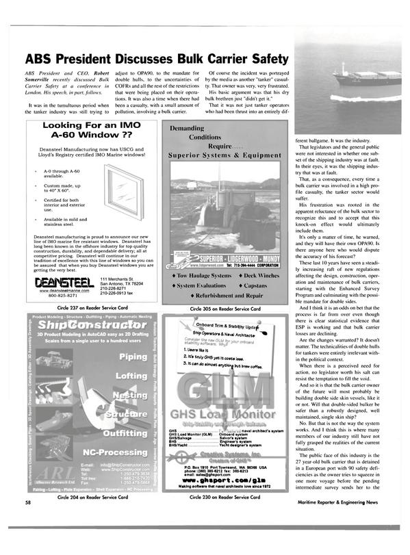 Maritime Reporter Magazine, page 60,  Oct 2003