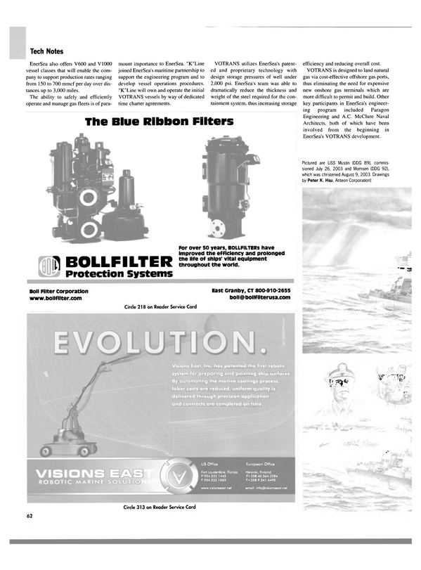 Maritime Reporter Magazine, page 64,  Oct 2003