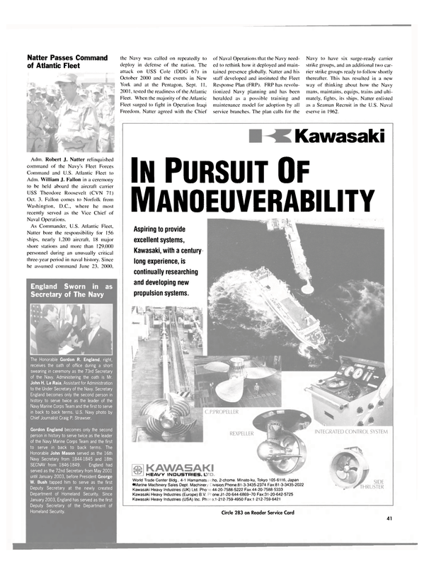 Maritime Reporter Magazine, page 42,  Nov 2003 John H. La Raia
