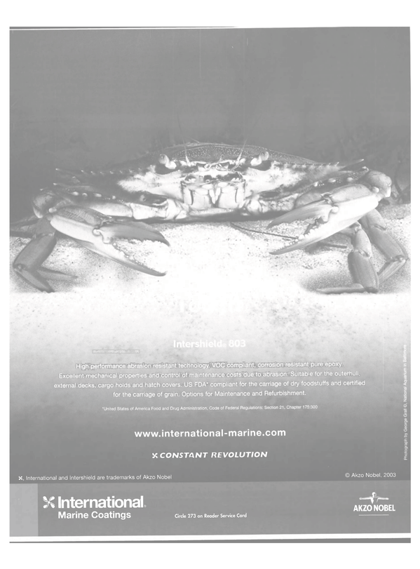 Maritime Reporter Magazine, page 56,  Nov 2003 Intershield