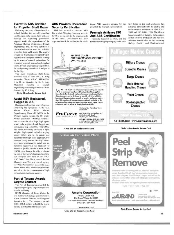 Maritime Reporter Magazine, page 68,  Nov 2003 Alabama