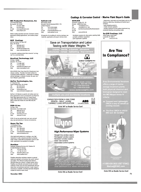 Maritime Reporter Magazine, page 78,  Nov 2003 Georgia