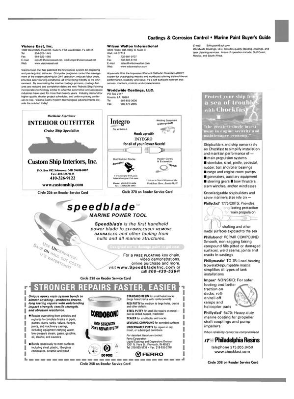 Maritime Reporter Magazine, page 80,  Nov 2003 Maryland