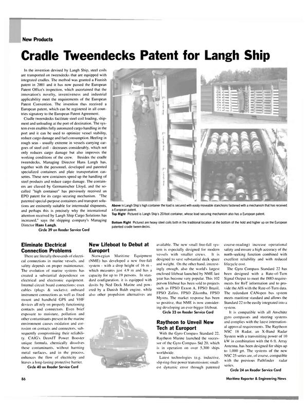 Maritime Reporter Magazine, page 89,  Nov 2003