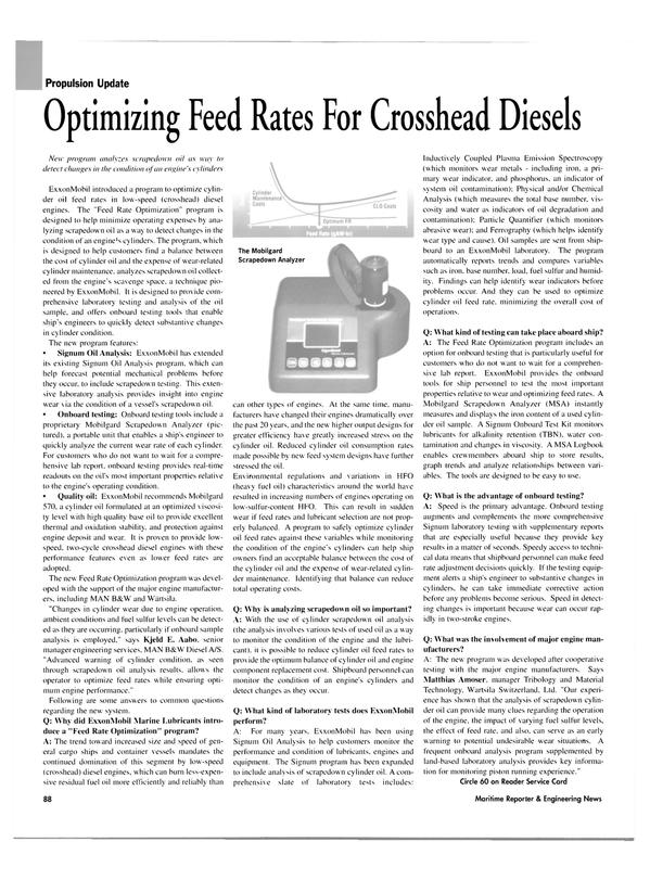 Maritime Reporter Magazine, page 91,  Nov 2003 Matthias Amoser