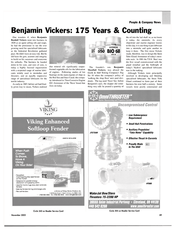 Maritime Reporter Magazine, page 92,  Nov 2003 Suez Canal