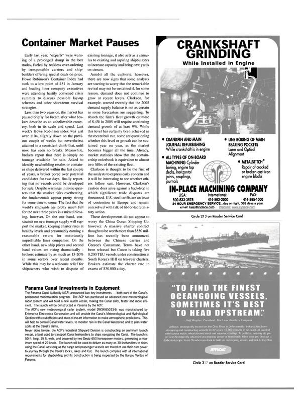 Maritime Reporter Magazine, page 17,  Dec 2003 Indiana