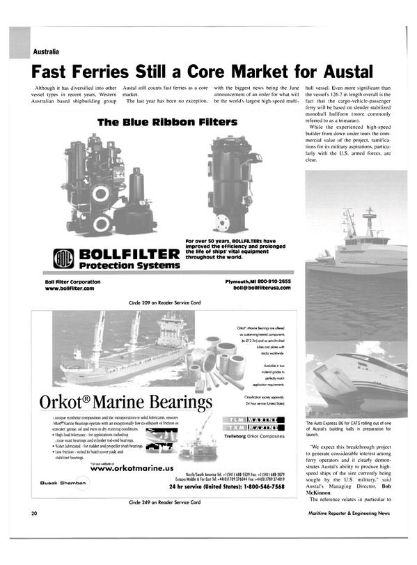 Maritime Reporter Magazine, page 20,  Jan 2004