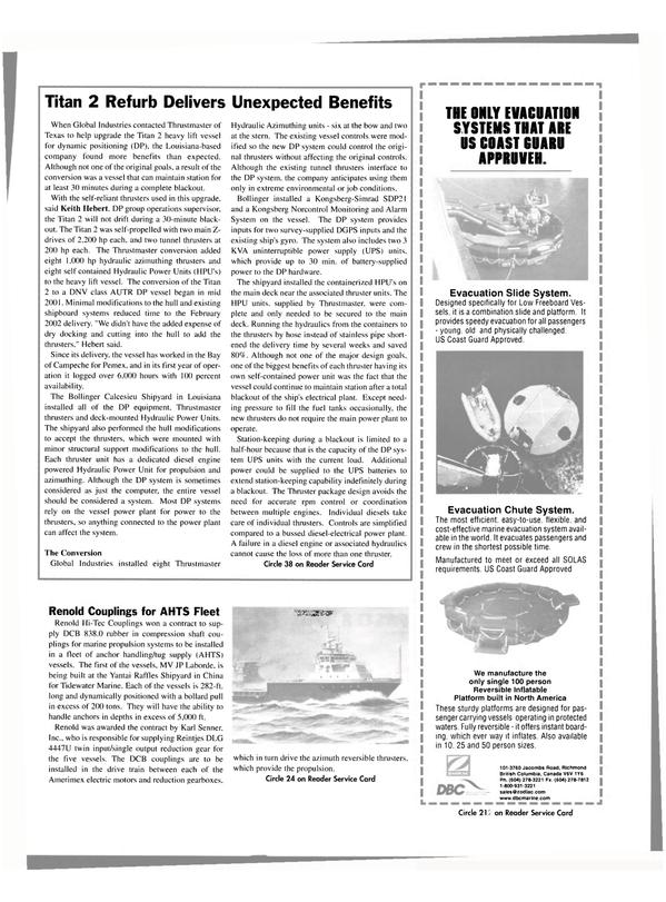 Maritime Reporter Magazine, page 41,  Jan 2004