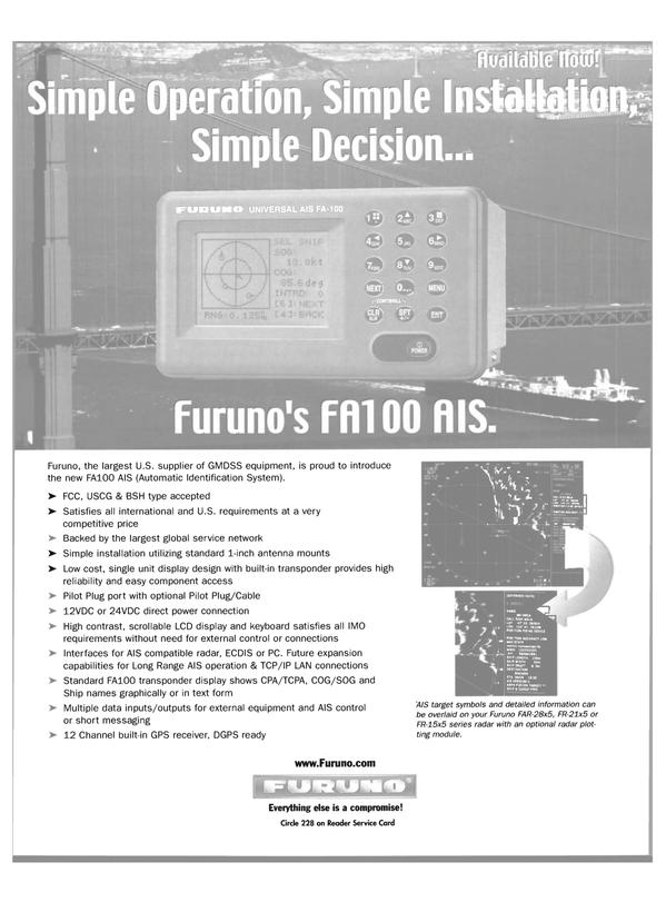 Maritime Reporter Magazine, page 10,  Feb 2004