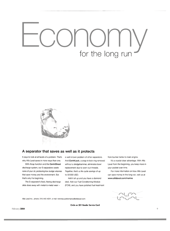 Maritime Reporter Magazine, page 12,  Feb 2004