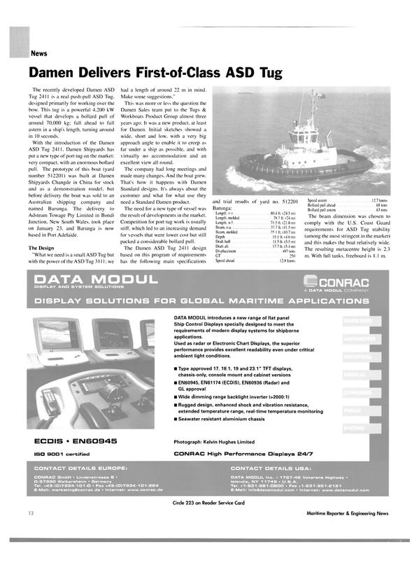 Maritime Reporter Magazine, page 15,  Feb 2004