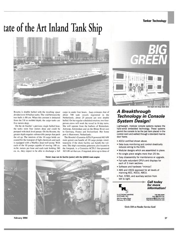 Maritime Reporter Magazine, page 32,  Feb 2004