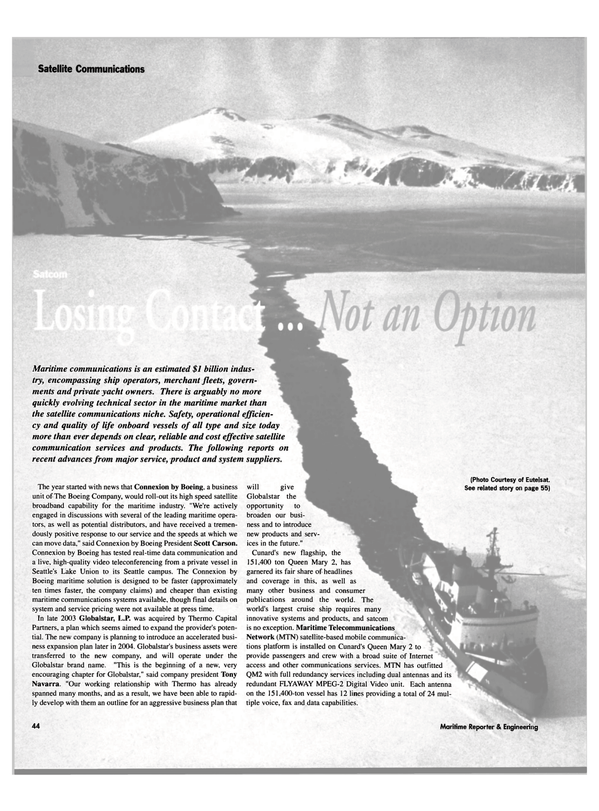 Maritime Reporter Magazine, page 44,  Mar 2004