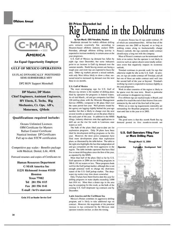 Maritime Reporter Magazine, page 24,  Apr 2004