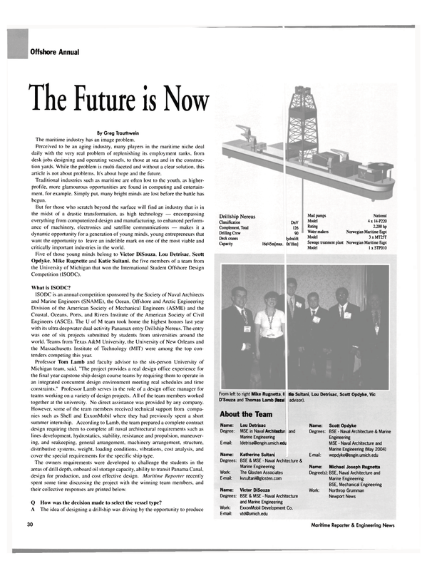 Maritime Reporter Magazine, page 32,  Apr 2004 Katherine Sultani