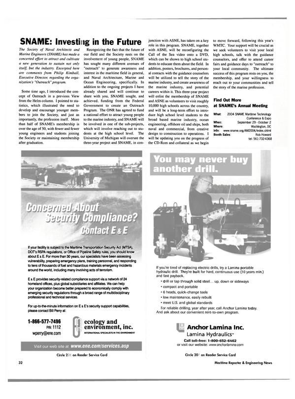 Maritime Reporter Magazine, page 34,  Apr 2004