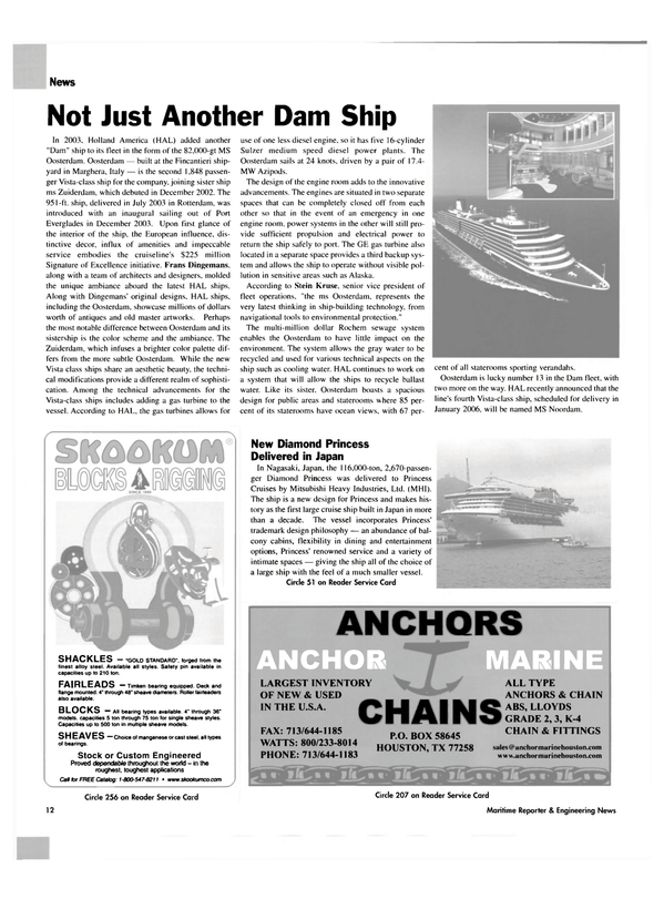 Maritime Reporter Magazine, page 12,  May 2004