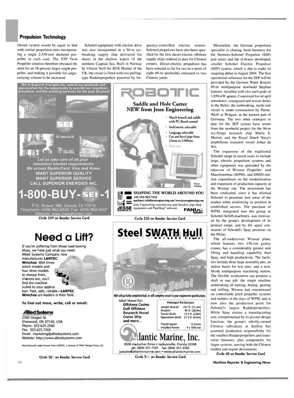 Maritime Reporter Magazine, page 32,  May 2004 Oregon