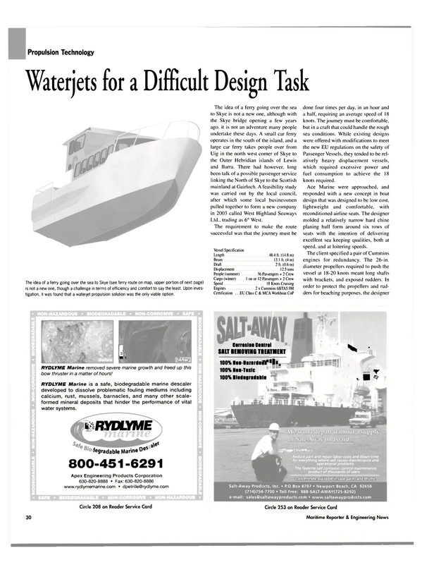 Maritime Reporter Magazine, page 34,  May 2004 Workboat CoP