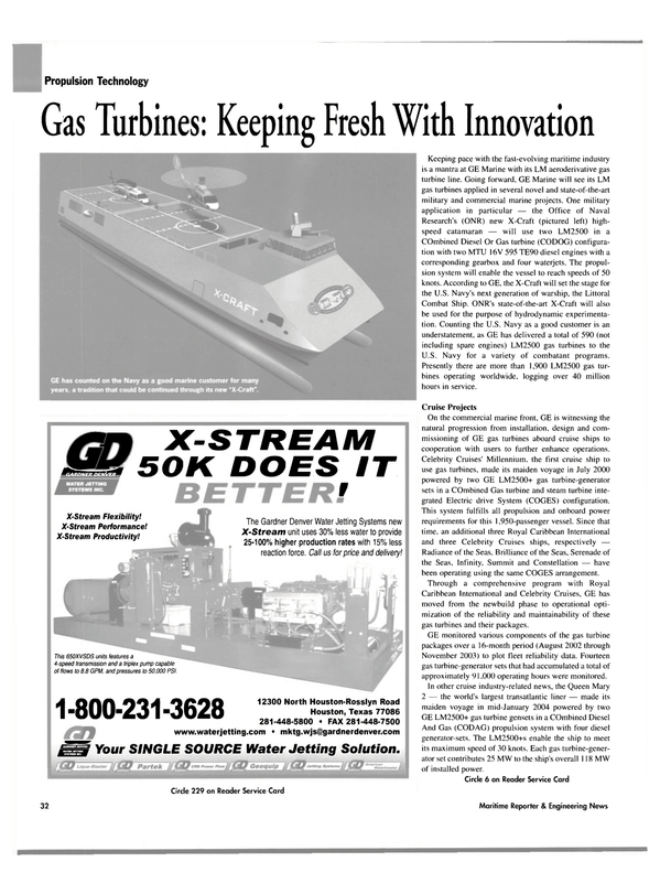 Maritime Reporter Magazine, page 36,  May 2004 Texas