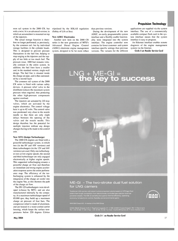 Maritime Reporter Magazine, page 41,  May 2004
