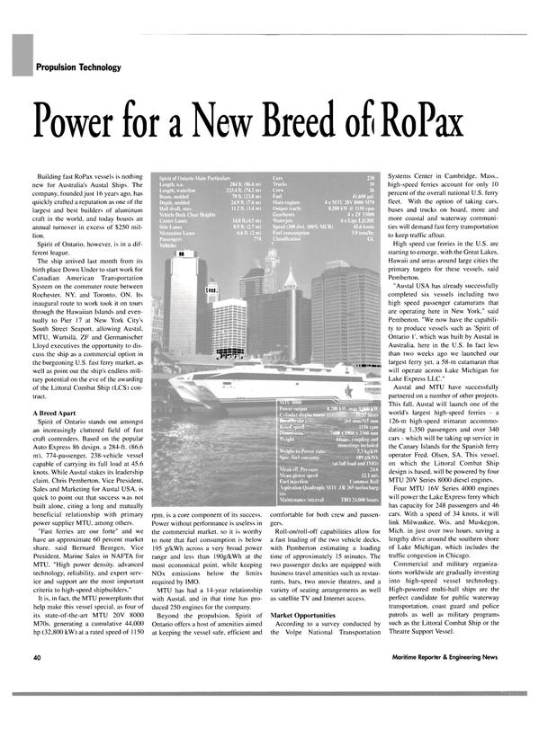Maritime Reporter Magazine, page 44,  May 2004 Satellite TV