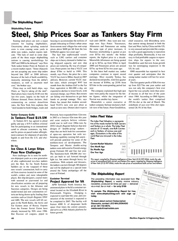 Maritime Reporter Magazine, page 48,  May 2004 Far East