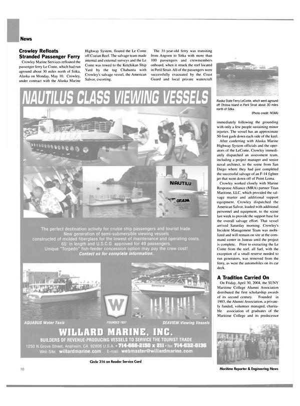 Maritime Reporter Magazine, page 10,  Jun 2004 F-14