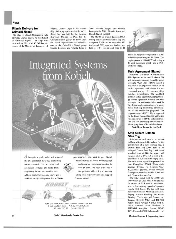Maritime Reporter Magazine, page 12,  Jun 2004 Merkava mark 1