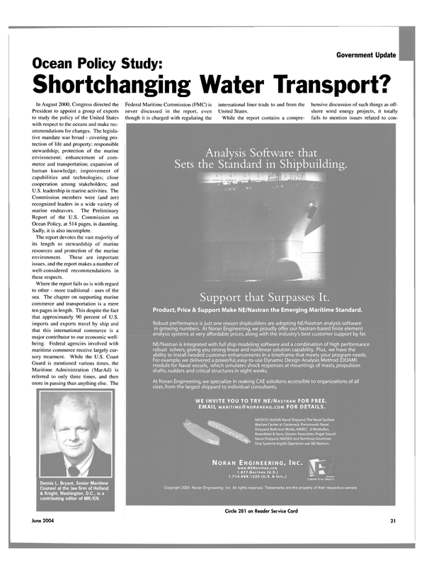 Maritime Reporter Magazine, page 21,  Jun 2004