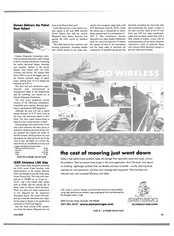 Maritime Reporter Magazine, page 25,  Jun 2004